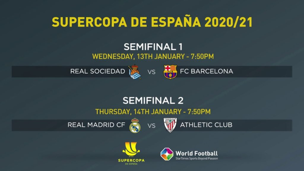 Barcelona and Real Madrid to fight for Spanish Super Cup on StarTimes