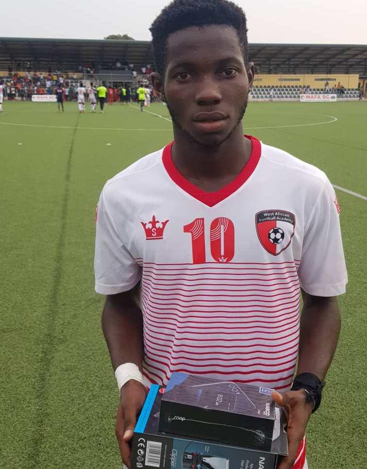 2020/21 Ghana Premier League: WAFA star Augustine Boakye wins MOTM against Asante Kotoko