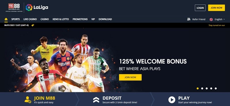 The Online Sports Betting In M88 Bookie