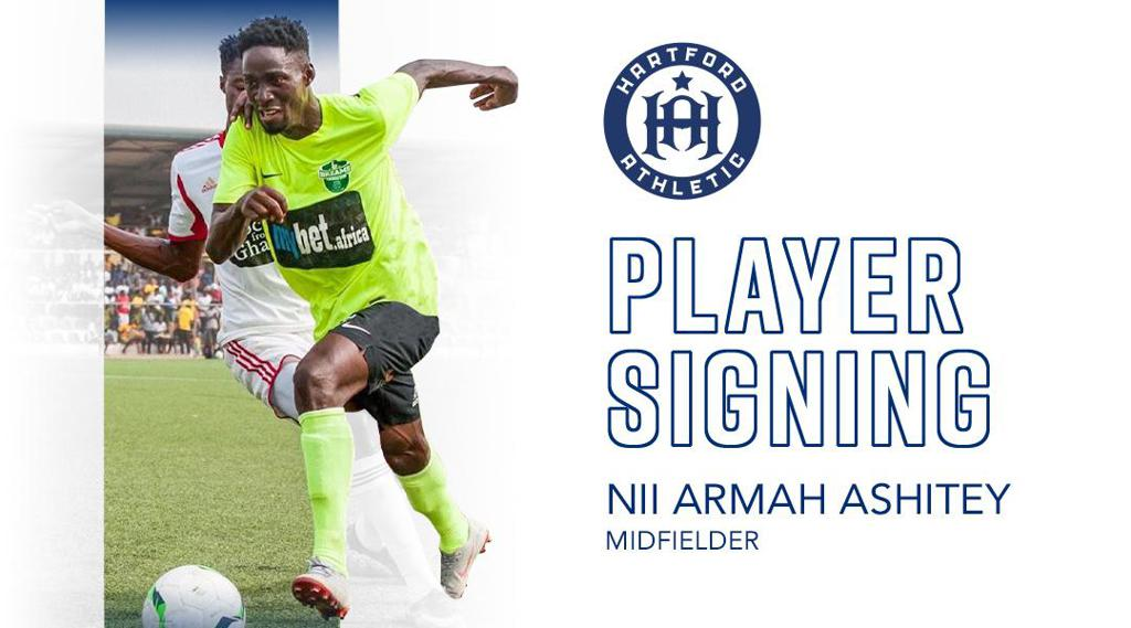 Hartford Athletic complete signing of Ghanaian youngster Nii Armah Ashitey