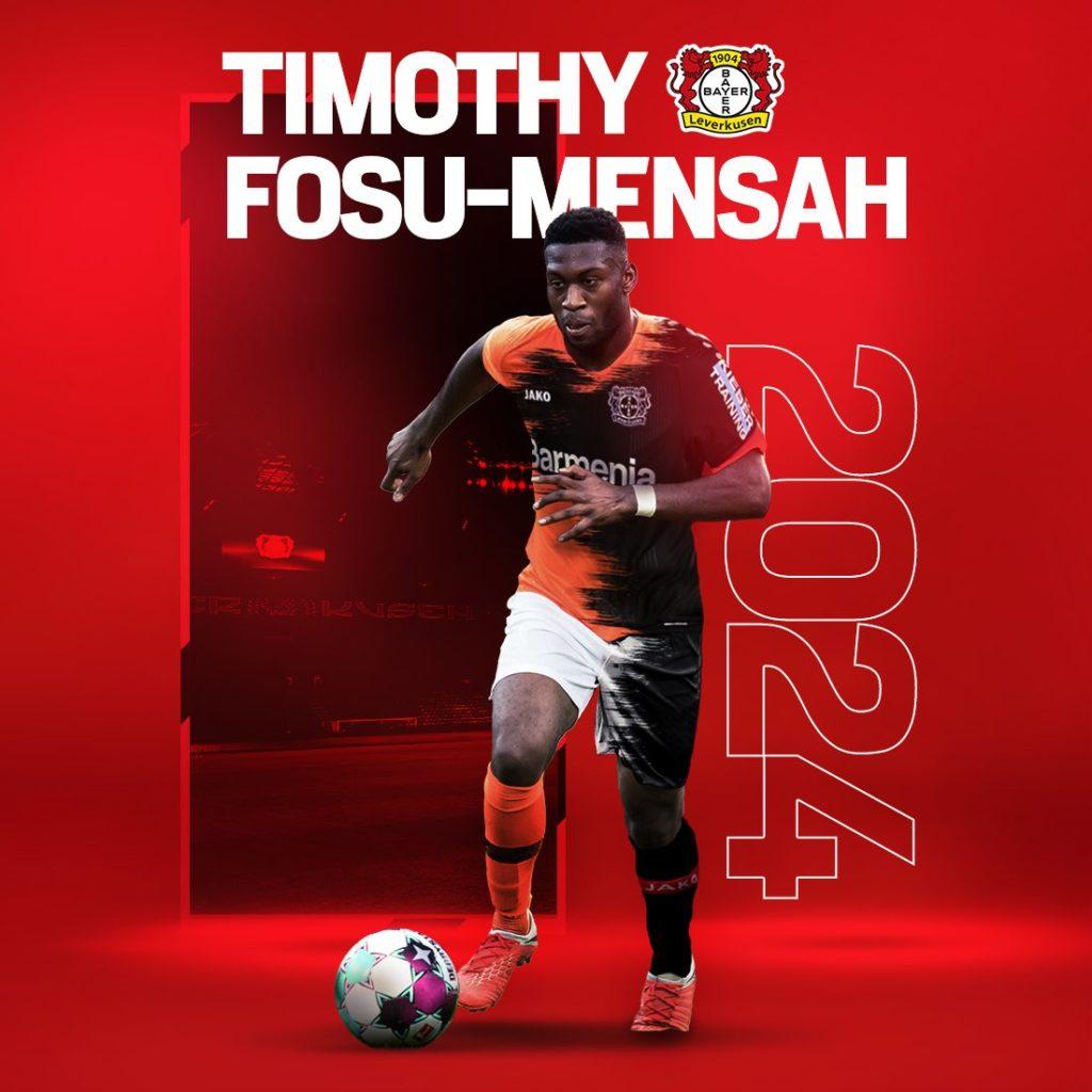 Timothy Fosu-Mensah joins Bayer Leverkusen on a permanent deal