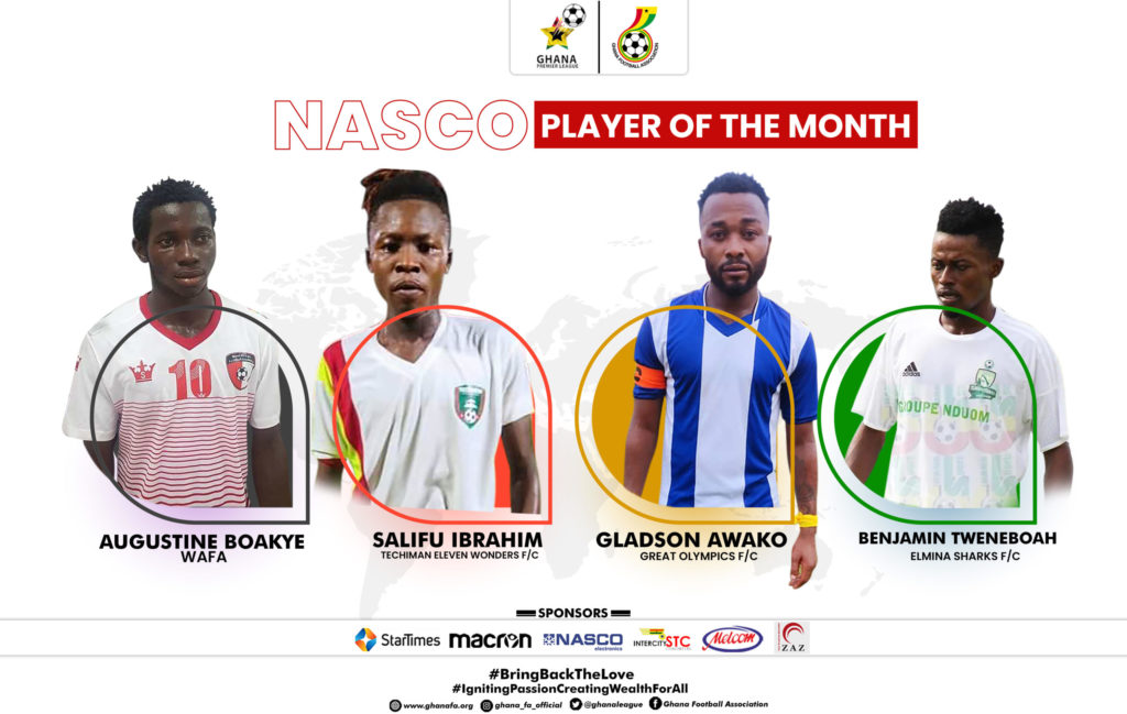 2020/21 Ghana Premier League: Nominees for player of the month for December announced