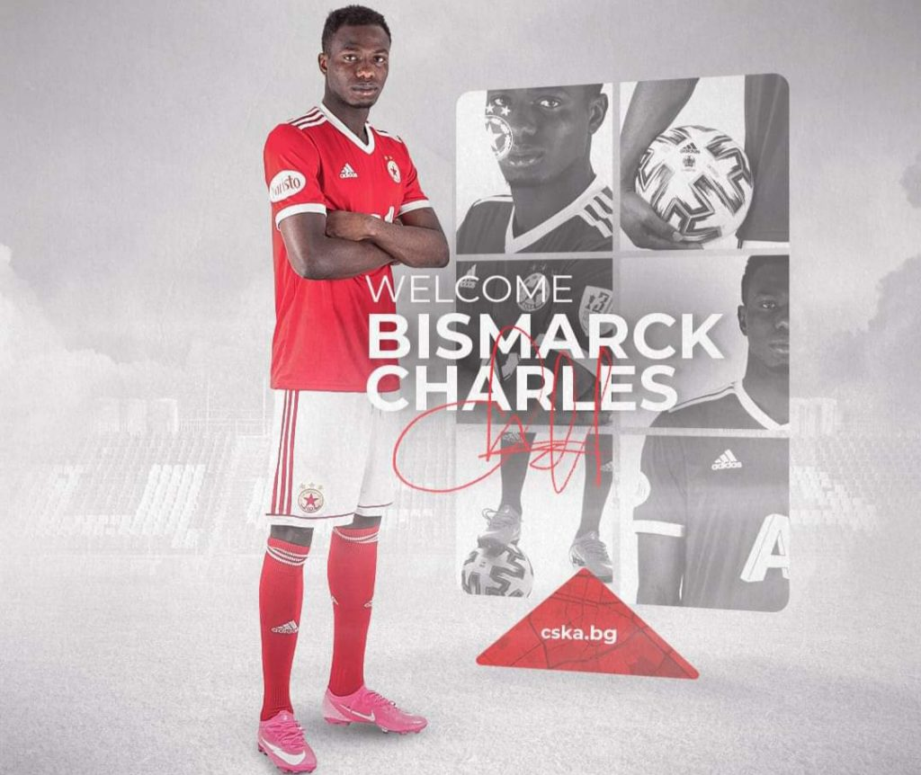 Bulgarian giants CSKA Sofia announce signing of Ghanaian teenager Bismarck Charles