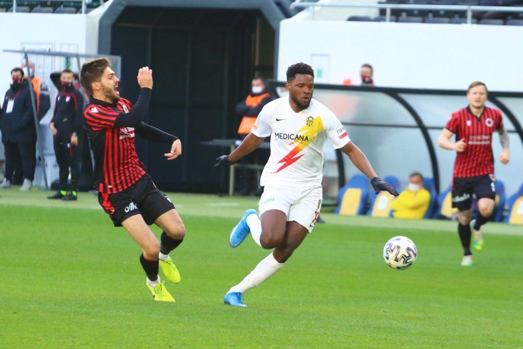 Ghanaian striker Benjamin Tetteh scores in Yeni Malatyaspor away draw against Genclerbirligi