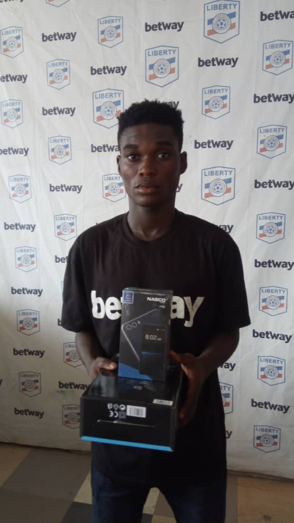 Liberty Professionals' Abraham Wayo picks up MoTM gong after superb performance in draw against Inter Allies