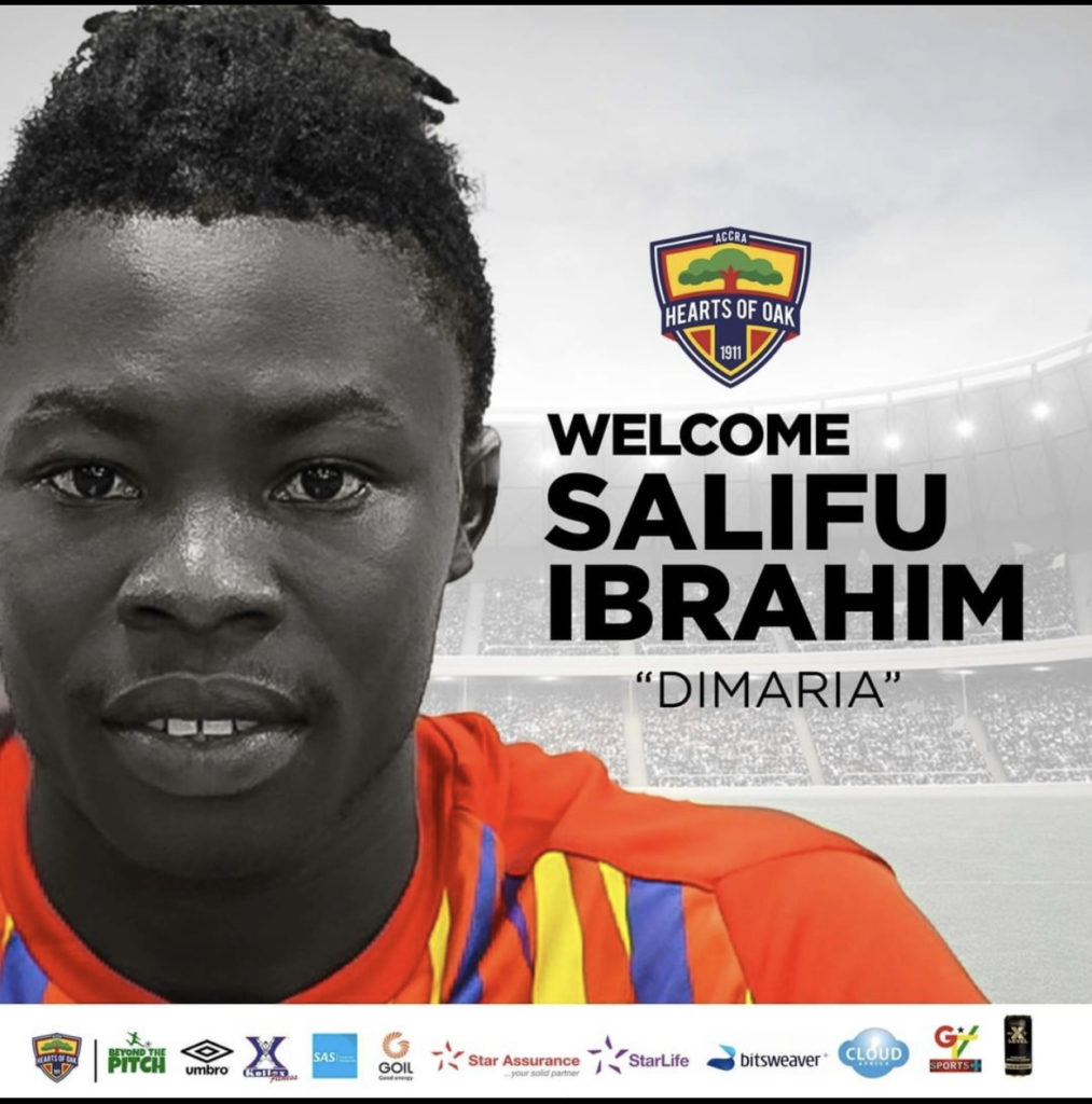 Hearts of Oak announce signing of Eleven Wonders star Salifu Ibrahim