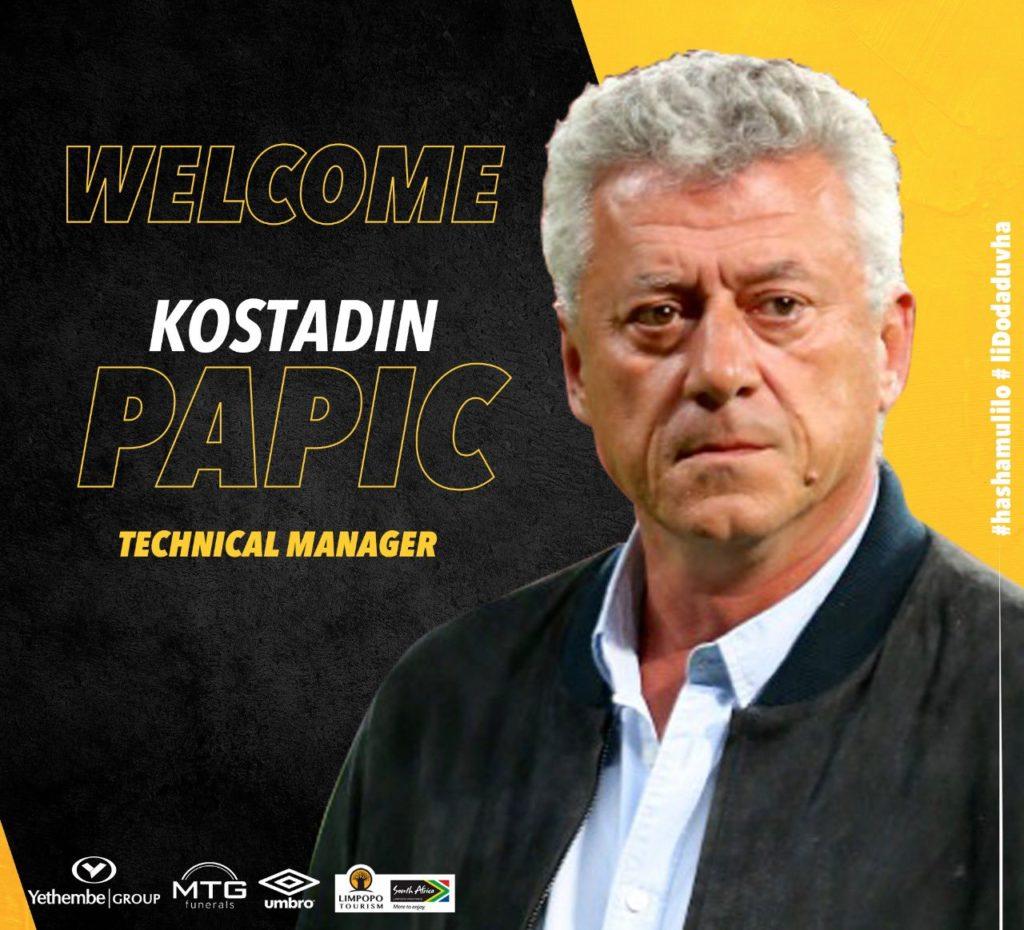 Kosta Papic returns to PSL side Black Leopards after leaving Hearts
