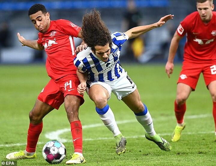 Arsenal outcast Matteo Guendouzi is going through 'football puberty' on loan at Hertha Berlin