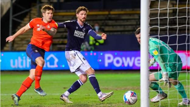 Evans levels late as Lions draw at Luton