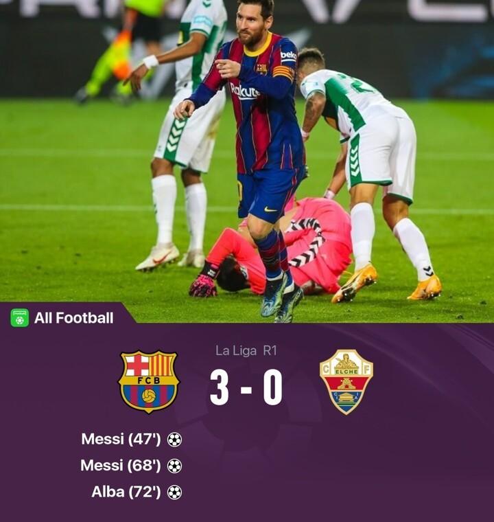 Barcelona 3-0 Elche: Messi scores twice & becomes La Liga's top scorer