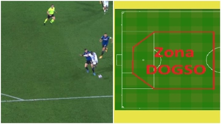 The DOGSO area that explains Freuler's red card against Real Madrid