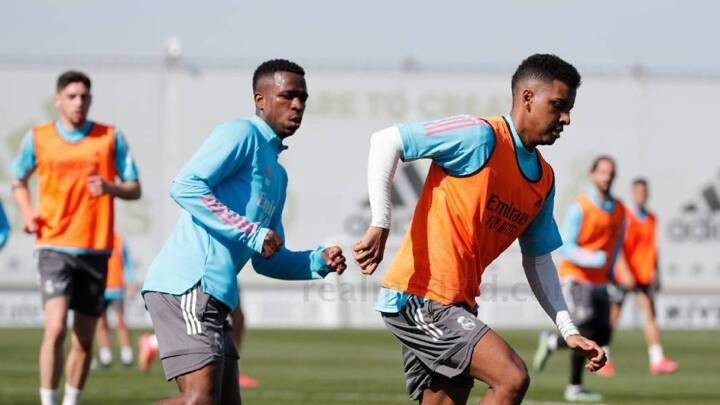 Rodrygo, Valverde, Marcelo and Odriozola all train with the group