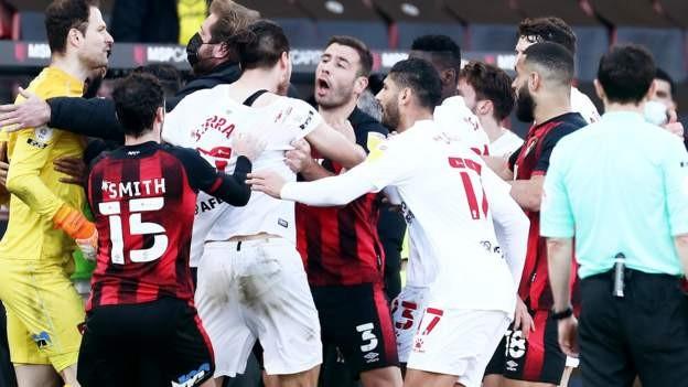 Brawl mars Bournemouth win over Watford