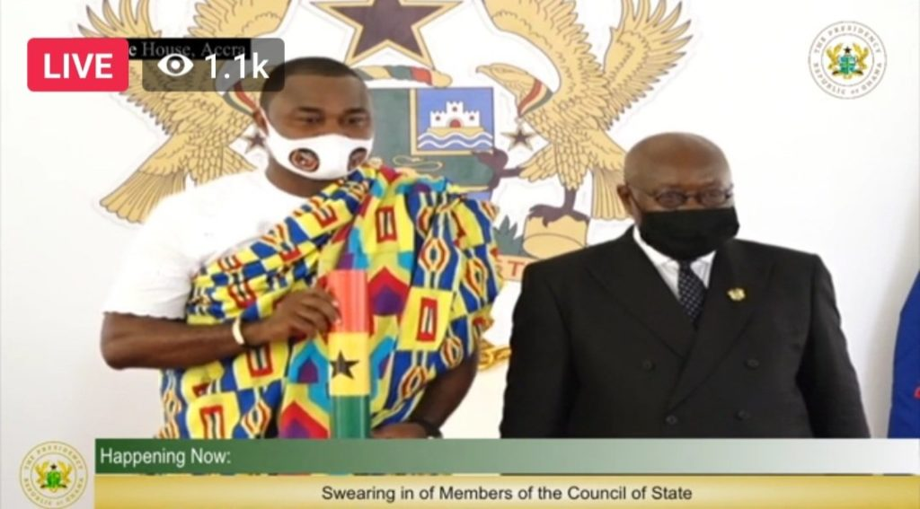 Legon Cities Board chair Richard Atikpo sworn in as Member of Council of State for Oti Region