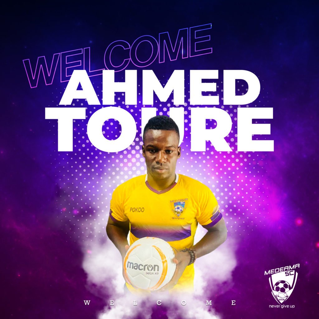 Amed Toure set to make Medeama debut after being named in squad to face Elmina Sharks