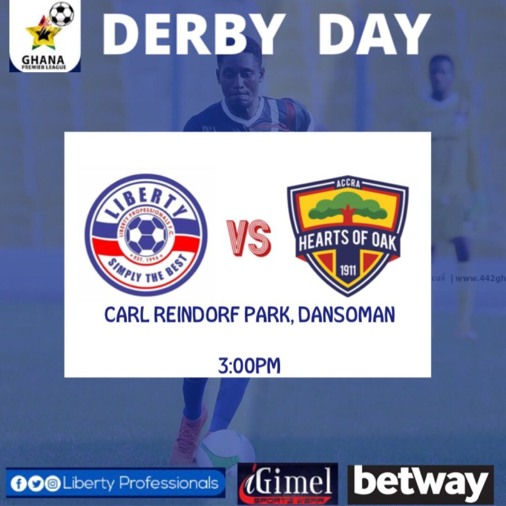 2020/21 Ghana Premier League: Week 16 Match Preview- Liberty Professionals v Hearts of Oak