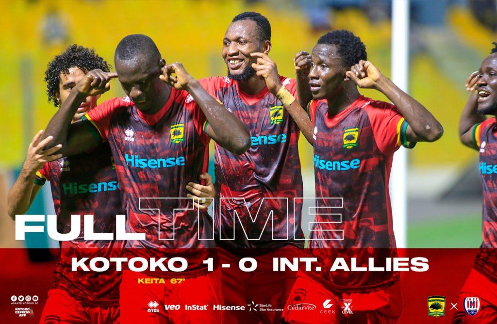 2020/21 Ghana Premier League: HIGHLIGHTS- Asante Kotoko 1-0 Inter Allies
