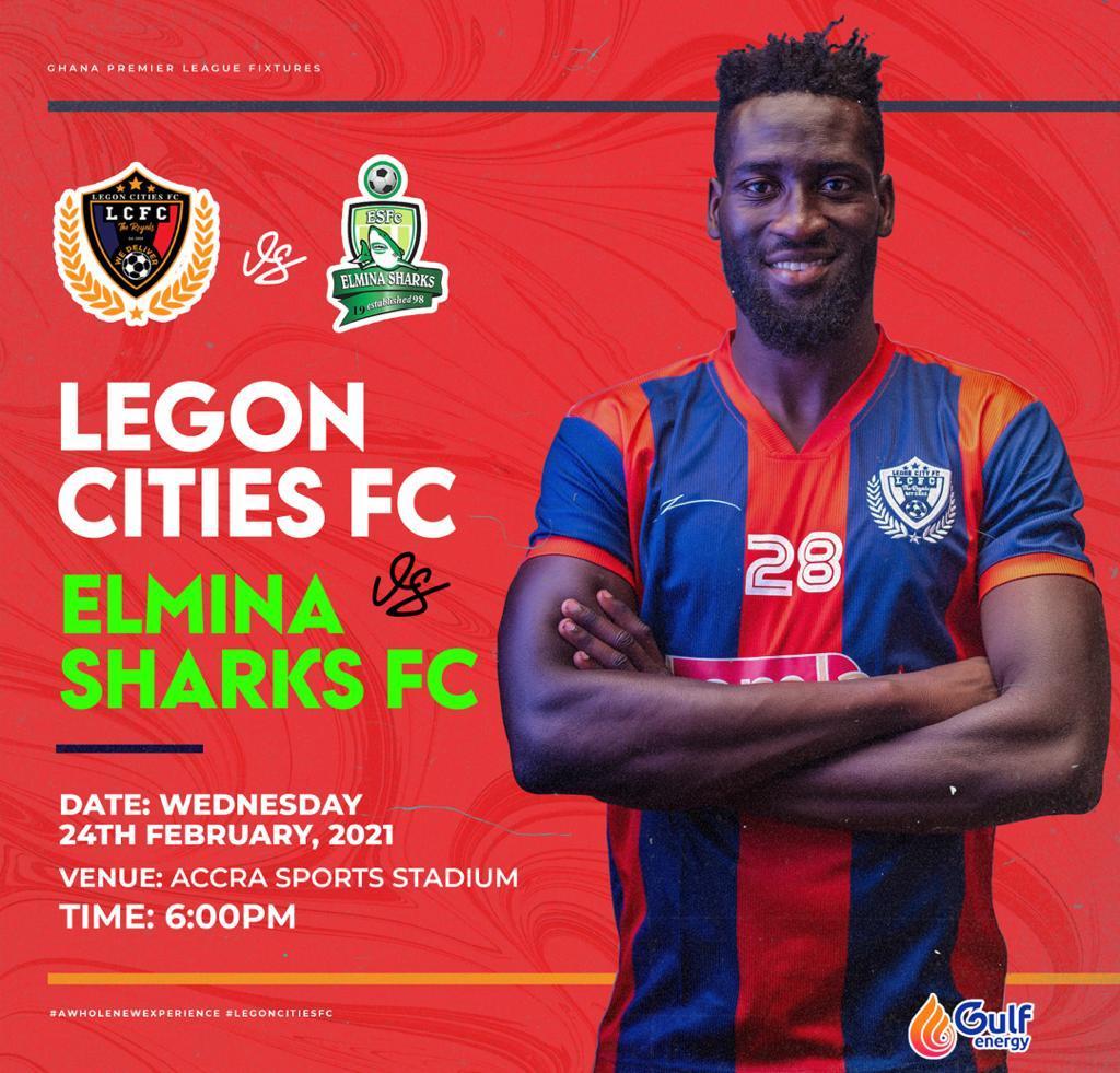2020/21 Ghana Premier League: Week 16 Match Preview- Legon Cities v Elmina Sharks