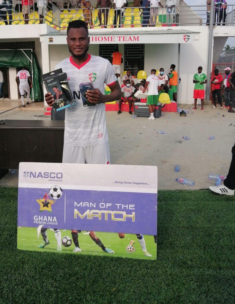 2020/21 Ghana Premier League: Karela United midfielder Sadiq Alhassan wins MoTM in victory over Liberty