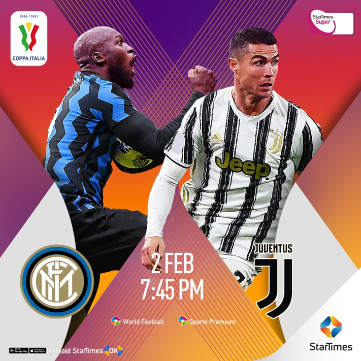 Inter Milan take on Ronaldo's Juventus in Coppa Italia