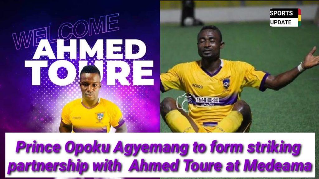 Medeama to unleash star striking duo Amed Toure and Prince Opoku Agyemang  on Elmina Sharks on Sunday