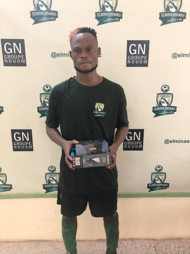 2020/21 Ghana Premier League: Elmina Sharks midfielder Benjamin Arthur named MOTM in draw against Dreams FC