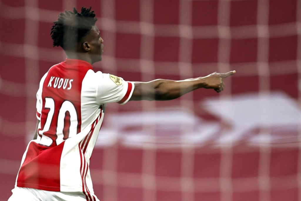 Video: Ghana star Mohammed Kudus scores in Ajax heavy win over Sparta Rotterdam