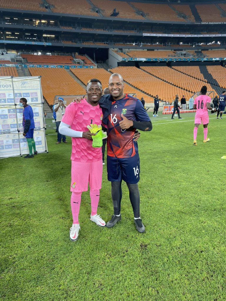 AFCON U-20 winner Ibrahim Danlad delighted to meet mentor Itemelung Khune after South Africa game