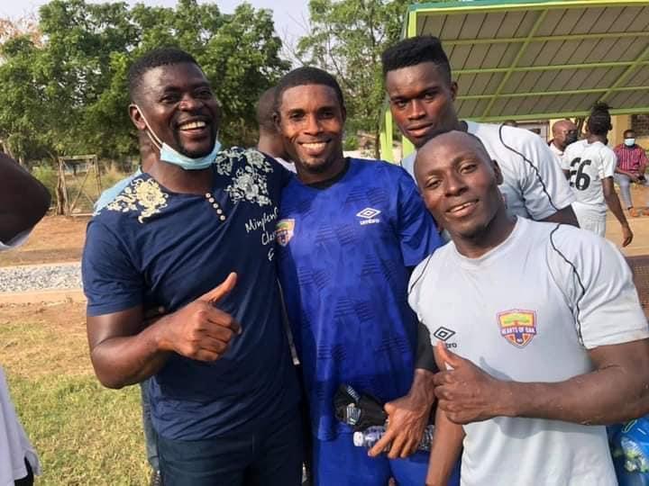 PHOTOS: New Hearts of Oak coach Samuel Boadu meets players