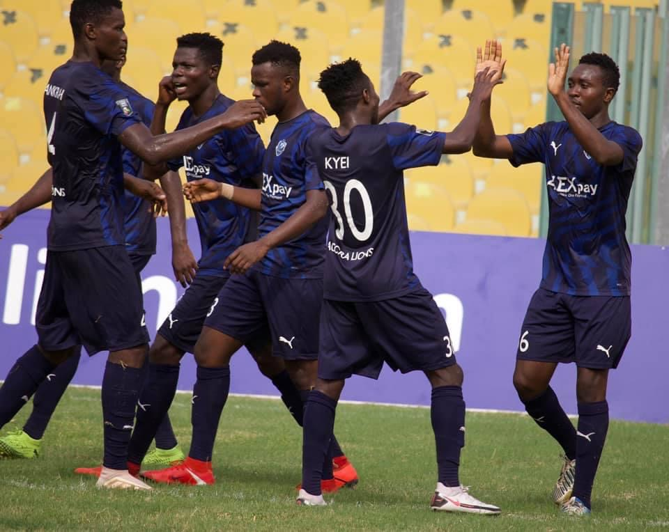 Division One League: Accra Lions beat FC Nania to extend unbeaten start to the season to eleven games