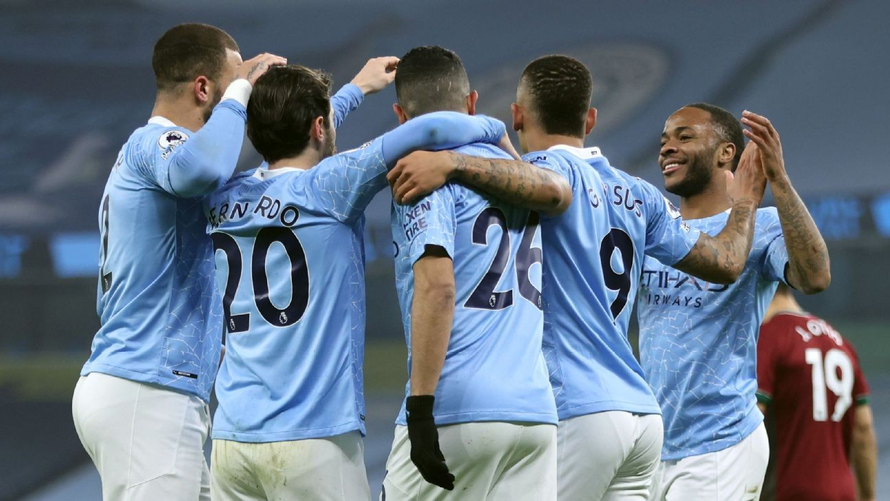 Man City go 15 points clear with win over Wolves