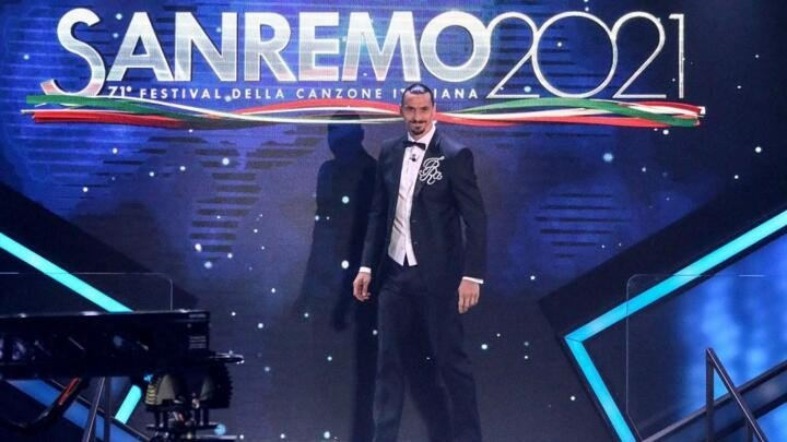 "Ibrahimovic makes Sanremo festival debut: ""I have been the best on this stage"""