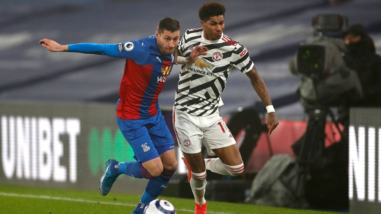 Man Utd can't break down Palace in drab draw
