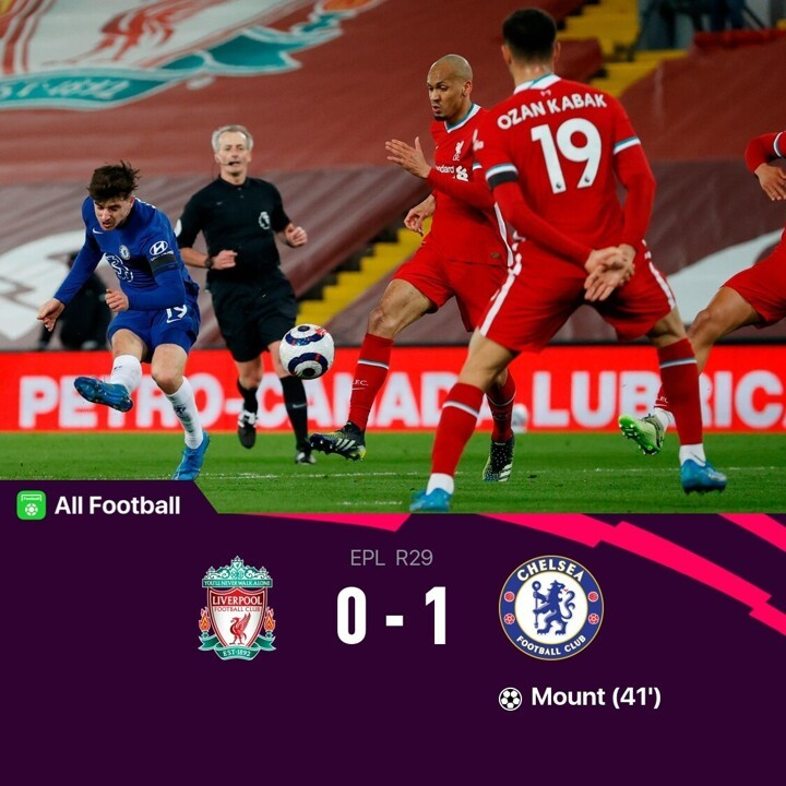 Liverpool 0-1 Chelsea: Mount nets as Reds lose 5 games in a row at Anfield
