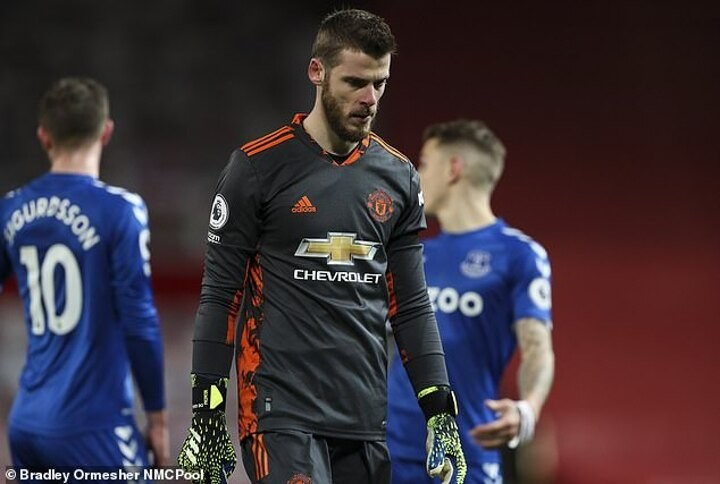 De Gea's position as first-choice goalkeeper at Man United under serious threat