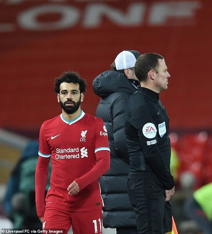 Klopp reveals why he decided to substitute top scorer Salah during