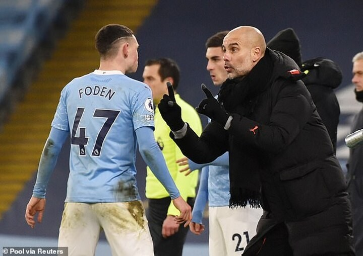 Phil Foden needs to be more calm to play a central role for Man City, claims his boss Pep Guardiola