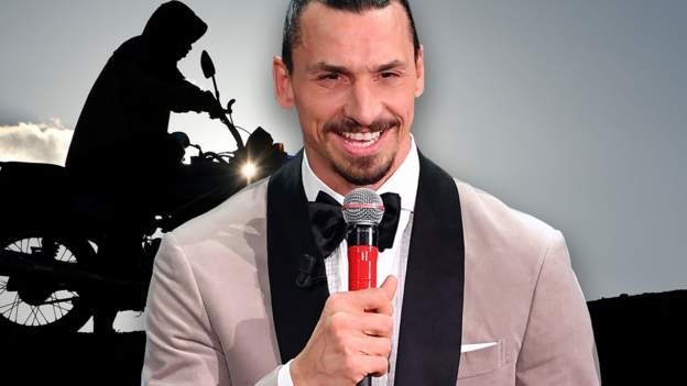 Zlatan hitch-hiked on a motorbike to perform at a festival