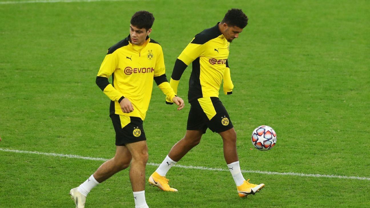 Dortmund's Sancho, Reyna out for crucial Bayern clash