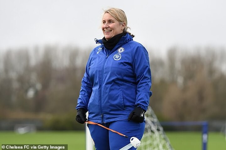 Blazing a trail: Chelsea Women boss Emma Hayes is going for three trophies