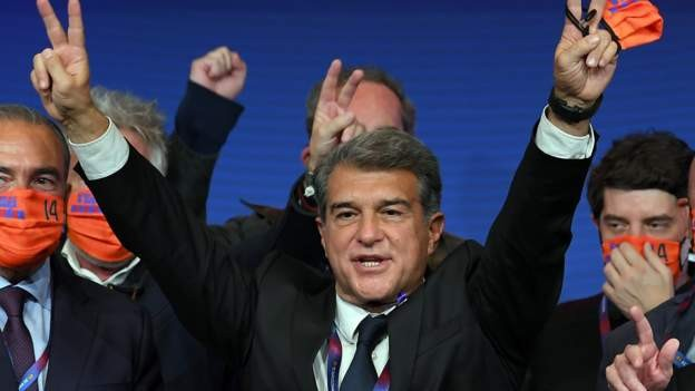 Laporta returns as Barcelona president