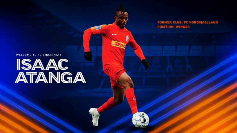 Breaking News: Ghanaian winger Isaac Atanga joins MLS side Cincinnati from Nordsjaelland