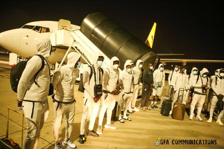 PICTURES: Black Stars arrive in South Africa for AFCON qualifier