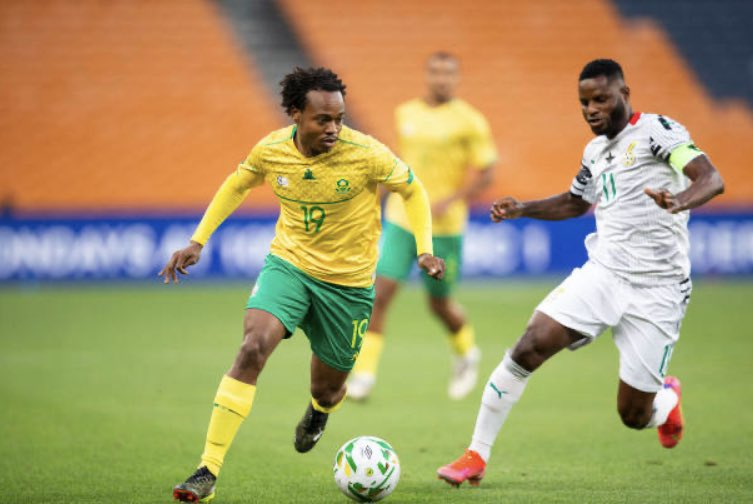 South Africa star Percy Tau 'proud' of teammates after Ghana draw