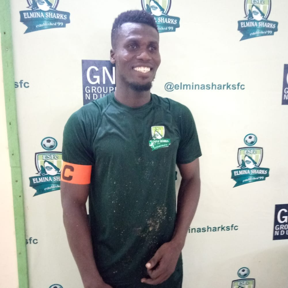 Elmina Sharks captain Samuel Arthur named man of the match in victory against Kotoko