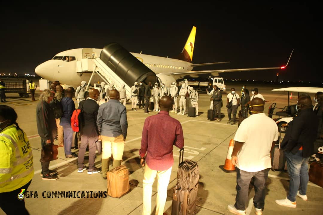 2021 AFCON Qualifiers: Black Stars arrive in Johannesburg ahead of South Africa clash