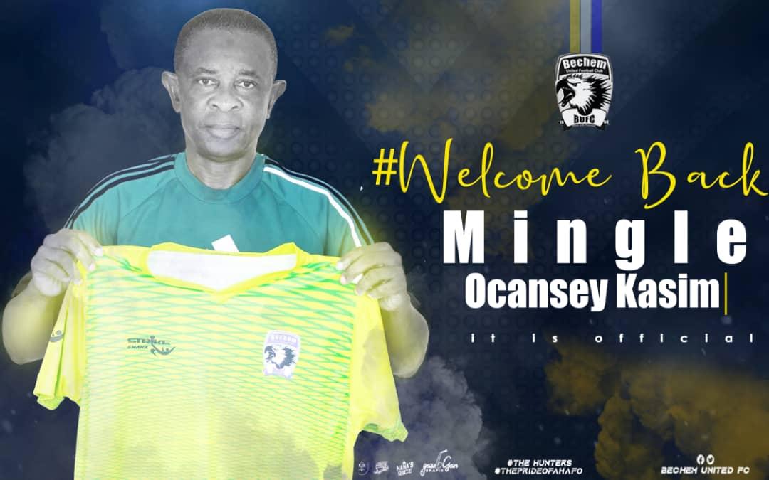 Bechem United appoint Mingle Ocansey Kasim as Head Coach