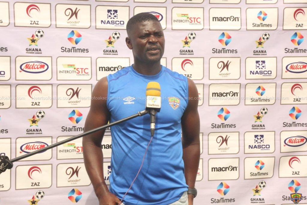 "Hearts coach Samuel Boadu reacts to ""dubious"" penalty awarded Ashantigold"