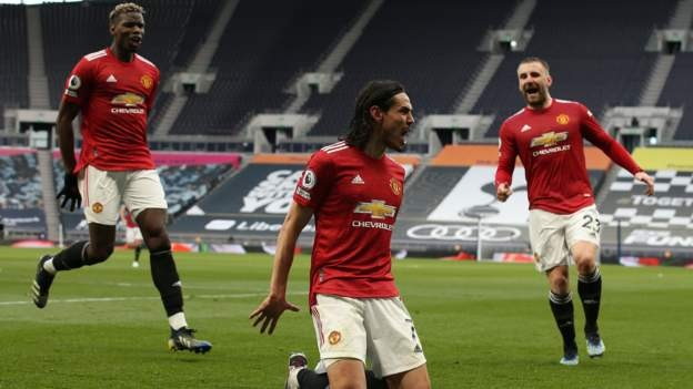 Man Utd come from behind to win at Spurs