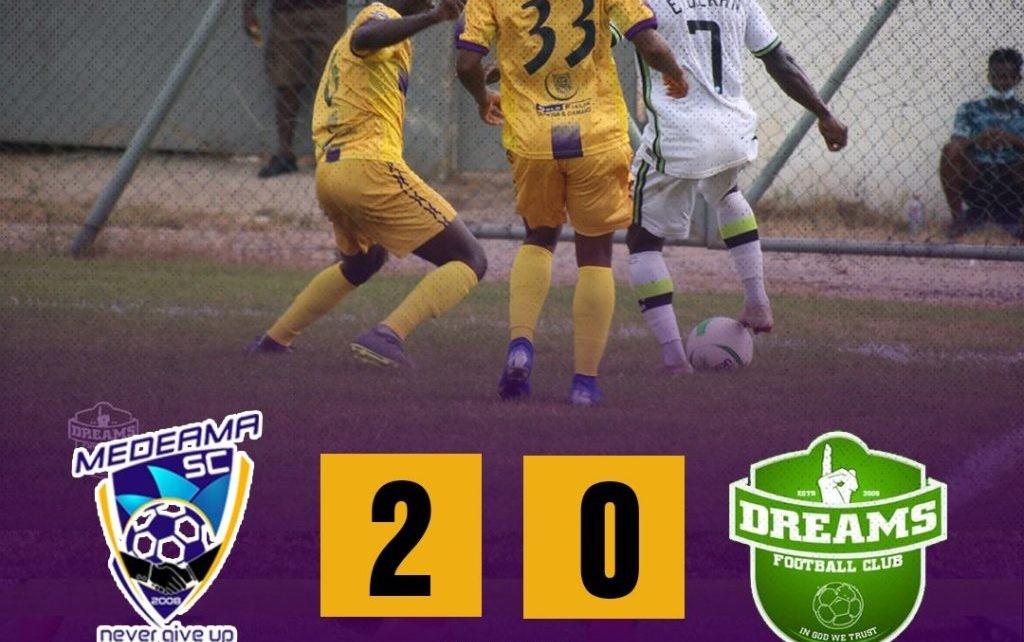 Match Report: Medeama deflate Dreams FC 2-0